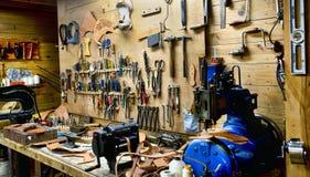 A Mans Workshop. Stock Photos