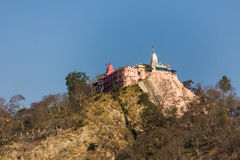 Mansa Devi寺庙,赫尔德瓦尔 库存图片