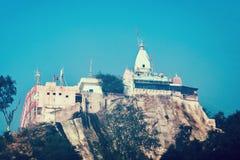 Mansa Devi寺庙是印度寺庙 库存图片
