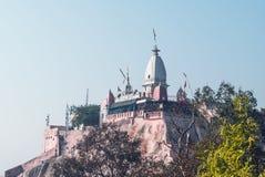 Mansa Devi Temple är en hinduisk tempel Arkivbilder