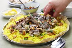 Mansaf, Jordanian national dish Royalty Free Stock Photo