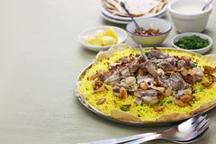 Mansaf, Jordanian national dish Royalty Free Stock Image