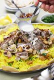 Mansaf, Jordanian national dish Royalty Free Stock Photography