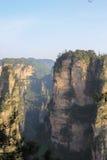 Mansan άποψη απότομων βράχων Tien σε Zhangjiajie Στοκ εικόνες με δικαίωμα ελεύθερης χρήσης