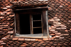Mansard old roof tile Royalty Free Stock Image