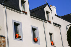 Mansard roof of residential apartments Royalty Free Stock Image