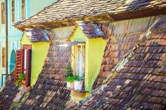 Mansard Windows Royalty Free Stock Photos