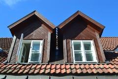 Mansard windows. Royalty Free Stock Image