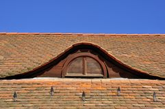 Mansardefenster Stockbild