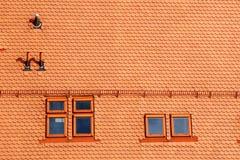 Mansardenfenster Lizenzfreie Stockfotos