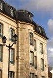 Mansart房子在法国 免版税库存照片