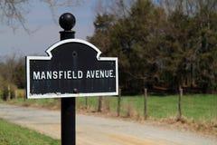 Mansfield Ave przy Antietam obywatela polem bitwy Zdjęcia Royalty Free
