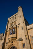 Mansfield College, Oxford. Looking up at Mansfield College's main tower stock photo