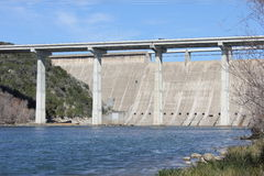 Mansfield Dam. At Lake Travis in Austin TX Royalty Free Stock Photography