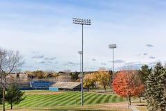 Mansfield stadium przy Hayford parkiem w Bangor Maine Zdjęcie Stock