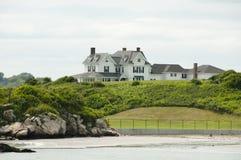 Mansión en la ensenada del punto de las ovejas - Newport - Rhode Island Fotos de archivo