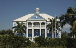 Mansión en las Bahamas Fotos de archivo libres de regalías