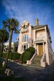 Mansión rosada de Charleston Foto de archivo libre de regalías