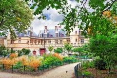 Mansión y los thermae de Cluny.Paris.France Imagen de archivo libre de regalías