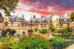 Mansión y los thermae de Cluny.Paris.France Fotografía de archivo libre de regalías