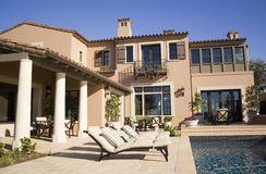 Mansion. A six million dollar house in california Royalty Free Stock Photography