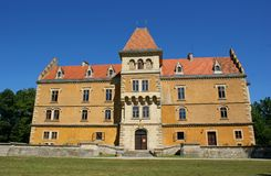 Mansion. Old castle in north Croatia Royalty Free Stock Photography