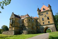 Mansion. Old castle in north Croatia Royalty Free Stock Photos