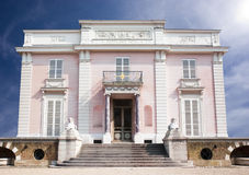 Mansion. Beautiful pink antic french residence Royalty Free Stock Photography