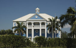 Mansion in the Bahamas. Grand Mansion on Grand Bahama Island in the Bahamas royalty free stock photos