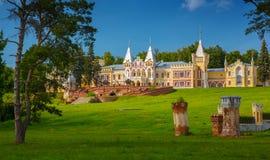 Mansion of baron Von Dervis in village Kiritzi, Russia, 1889-190 Stock Images