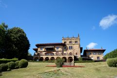 Mansion basque country getxo Royalty Free Stock Photo