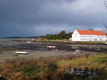 Mansion big farmhouse by the sea Funen Denmark Stock Photo