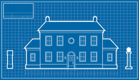 Mansion Blueprint Stock Images