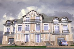 Mansion Classic Style Stock Photos