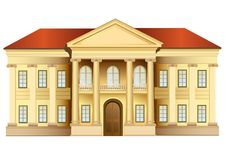 Mansion with columns vector. Mansion with columns on white, vector royalty free illustration
