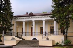 The mansion of Count Vorontsov in the Botanical Garden in Simferopol city, Crimea. The Vorontsov House is one of the main attractions of Simferopol. The building stock photography