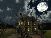 Mansion. 3D CG rendering of the mansion Royalty Free Stock Image