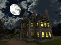 Mansion. 3D CG rendering of the mansion Stock Photos