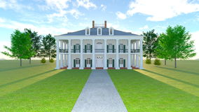 Mansion. 3D CG rendering of the mansion Stock Image