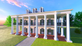 Mansion. 3D CG rendering of the mansion Stock Images
