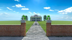 Mansion. 3D CG rendering of the mansion Royalty Free Stock Photos