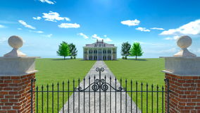 Mansion. 3D CG rendering of the mansion Stock Photography