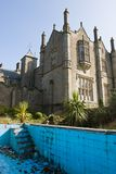 Mansion and derelict pool Royalty Free Stock Photography