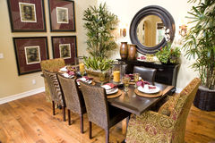 Mansion dining room Stock Photos