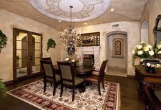 Mansion dining room royalty free stock photography