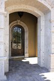 Mansion doorway entry Stock Photo