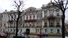 The Mansion Of E. M. Buturlina. Historic building - architectural monument of the 19th century in St. Petersburg Royalty Free Stock Image