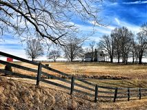 Mansion and Fence royalty free stock photo