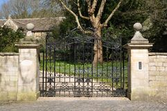 Mansion Gate. Gate and Drive of a Country Mansion Stock Photography