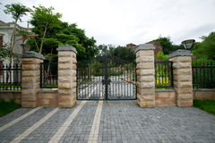 Mansion gate Royalty Free Stock Images